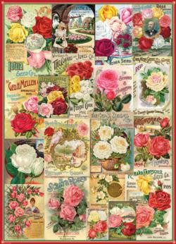 Roses - Seed Catalogue Collection Collage Jigsaw Puzzle