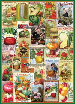 Vegetables Seed Catalogue Collection Collage Jigsaw Puzzle