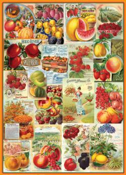 Fruits - Seed Catalogue Collection Collage Jigsaw Puzzle