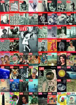 Vintage Cover Collage -  LIFE Magazine Collage Jigsaw Puzzle