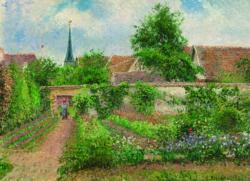 Vegetable Garden Overcast Morning Landscape Jigsaw Puzzle