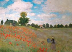 The Poppy Field Impressionism Jigsaw Puzzle