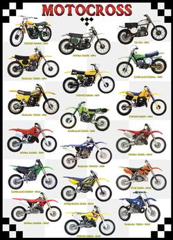 Motocross Pattern / Assortment Jigsaw Puzzle