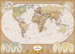 Map of the World Nostalgic / Retro Jigsaw Puzzle