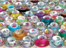 Tea Cups Pattern / Assortment Jigsaw Puzzle