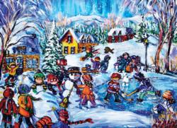 Snow Day Snowman Jigsaw Puzzle
