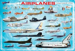 Airplanes Educational Jigsaw Puzzle