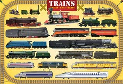 Trains Nostalgic / Retro Jigsaw Puzzle