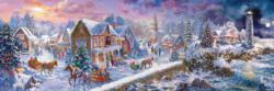 Holiday at the Seaside Christmas Panoramic Puzzle