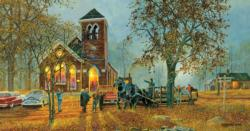 Old Fashioned Hayride Churches Jigsaw Puzzle