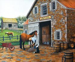 Coppery and Stables Horses Jigsaw Puzzle