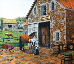 Coopery and Stables Horses Large Piece