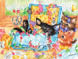 Sewing Kits Kittens Jigsaw Puzzle