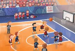 Junior League Basketball Sports Jigsaw Puzzle