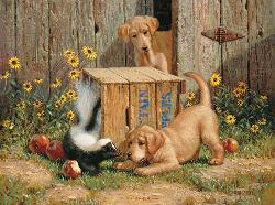 Don't Talk to Strangers Dogs Jigsaw Puzzle