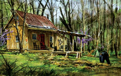 Mark's Cabin Cottage / Cabin Jigsaw Puzzle