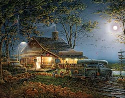 Autumn Traditions (Terry Redlin Collection) Thanksgiving Jigsaw Puzzle