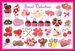 Sweet Valentine Food and Drink Children's Puzzles