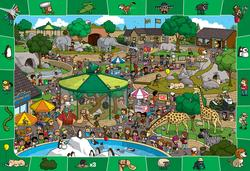 A Day at the Zoo - Scratch and Dent Cartoons Children's Puzzles
