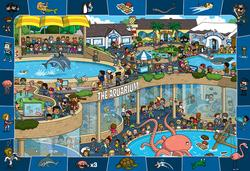Crazy Aquarium (Spot & Find) - Scratch and Dent Cartoons Children's Puzzles