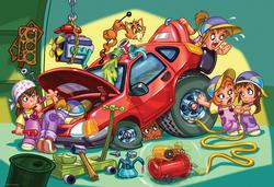 Mechanics Cartoons Jigsaw Puzzle