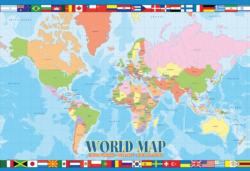 World Map Geography Children's Puzzles