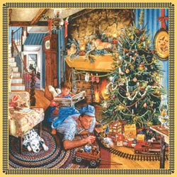 Father's Christmas Train Christmas Jigsaw Puzzle