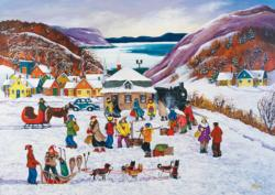 PZ 1000 N. Laporte: At the Arrival Christmas Jigsaw Puzzle