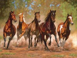 Running Wild - Taking Flight Horses Jigsaw Puzzle