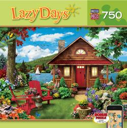 Lazy Days - Waterfront Garden Jigsaw Puzzle