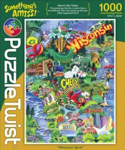 Wisconsin Spirit Landmarks / Monuments Jigsaw Puzzle