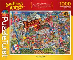 Iowa Spirit Collage Jigsaw Puzzle