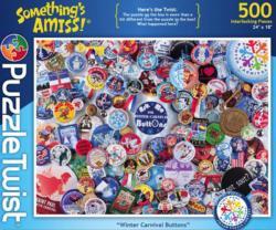 Winter Carnival Buttons Pattern / Assortment Jigsaw Puzzle