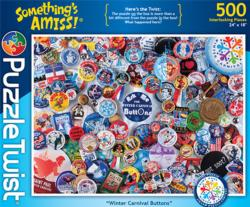 Winter Carnival Buttons Pattern / Assortment Jigsaw Puzzle