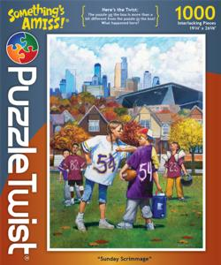Sunday Scrimmage Sports Jigsaw Puzzle