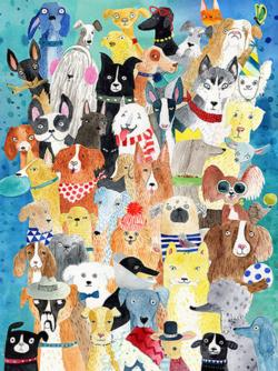 Colorful Canines Dogs Jigsaw Puzzle