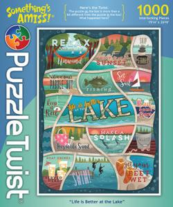 Life is Better at the Lake Lakes / Rivers / Streams Jigsaw Puzzle