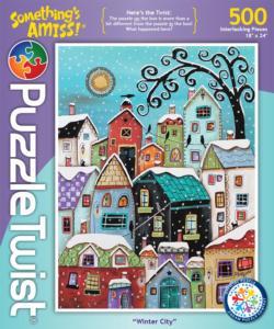 Winter City Winter Jigsaw Puzzle