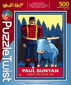 Paul Bunyan & Babe the Blue Ox Winter Jigsaw Puzzle
