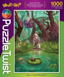 Larry's Chance Encounter Frog Jigsaw Puzzle