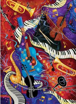 Jam Session Music Jigsaw Puzzle