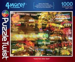 State Fair After Dark Collage Impossible Puzzle