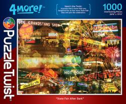 State Fair After Dark Collage Jigsaw Puzzle