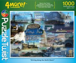 Driving Along the North Shore Collage Jigsaw Puzzle