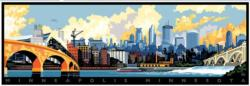 Minneapolis Skyline Skyline / Cityscape Panoramic Puzzle
