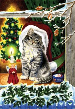 A Christmas Kitten Christmas Large Piece