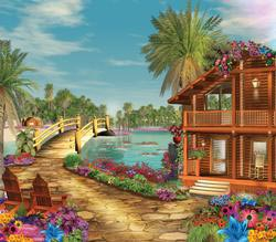 Island Dreams Seascape / Coastal Living Jigsaw Puzzle