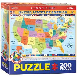 Map of the United States of America Geography Jigsaw Puzzle