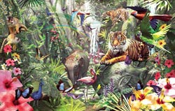Asian Rainforest - Scratch and Dent Tigers Jigsaw Puzzle