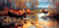 Showdown at  Oxbow Wildlife Jigsaw Puzzle
